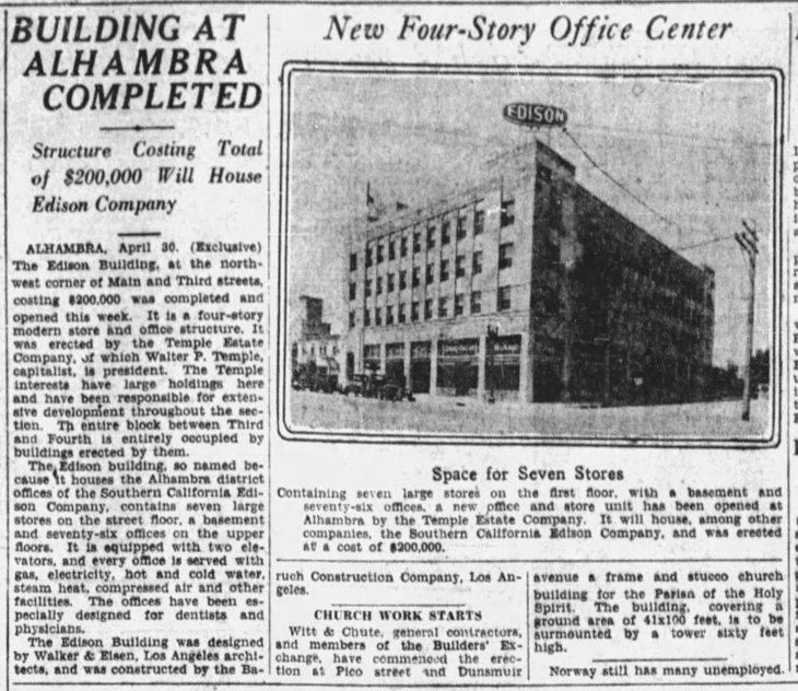 Alhambra Edison Building LA_Times_May_1__1927_