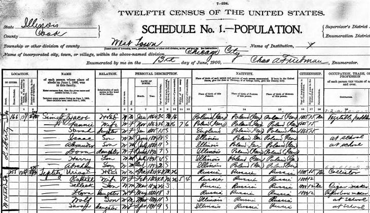 Abe Lyman 1900 census