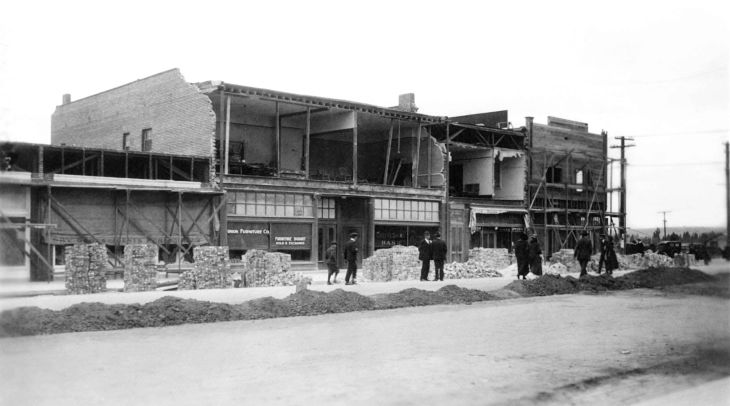 A Snapshot Of Damaged Buildings From Inglewood Earthquake Los An