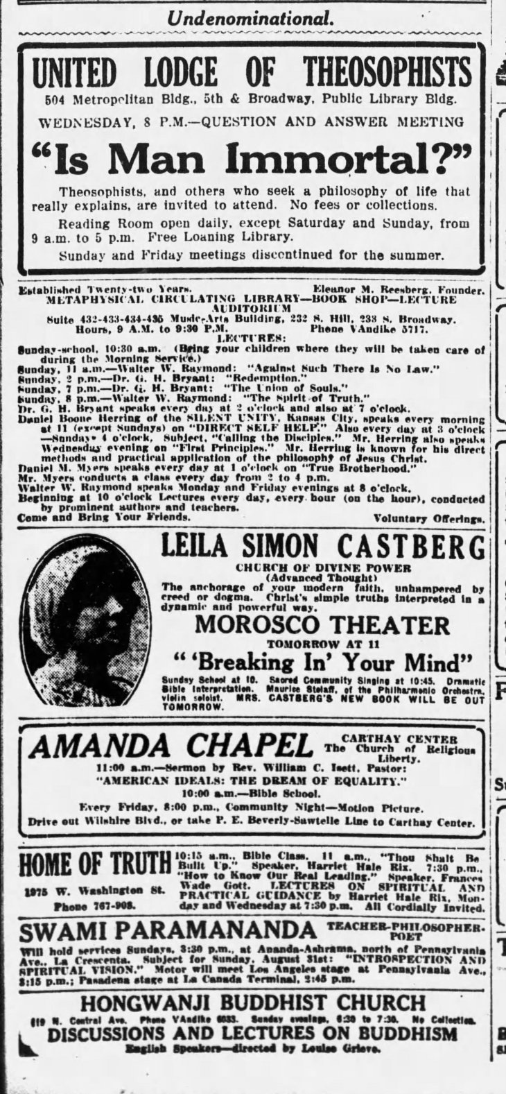 Hongwanji Temple LA_Times__Aug_30__1924_