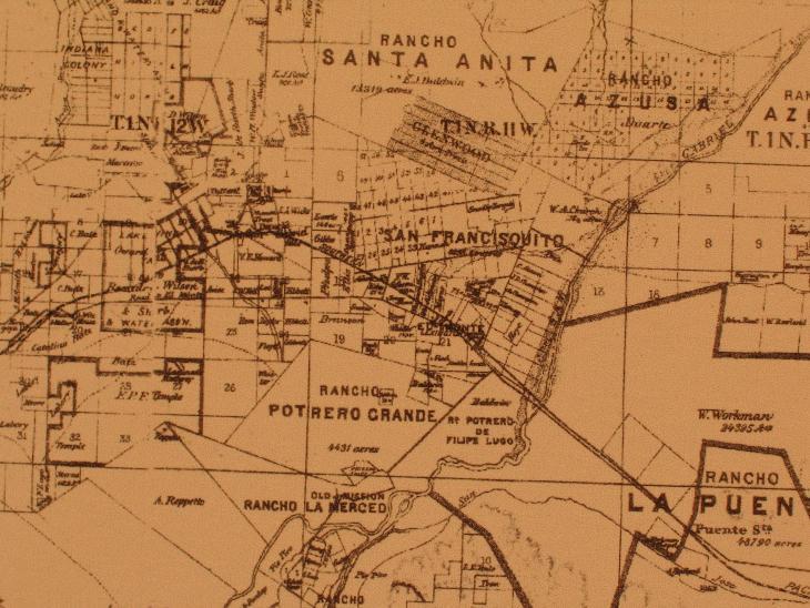 1877 map El Monte San Gabriel