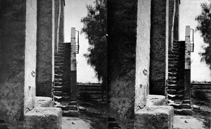 SV 3085 Stone Stairway Mission San Gabriel 2010.305.1.1