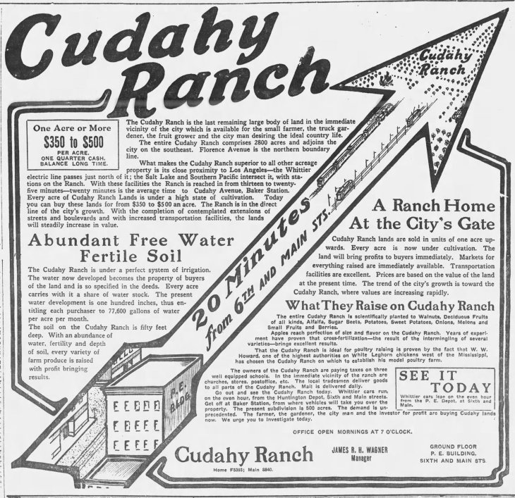 Cudahy Ranch ad LA_Times_Apr_5__1908_