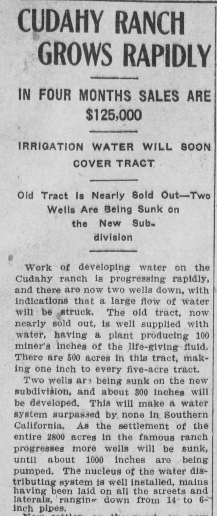 Cudahy Ranch article LA_Herald_Aug_16__1908_