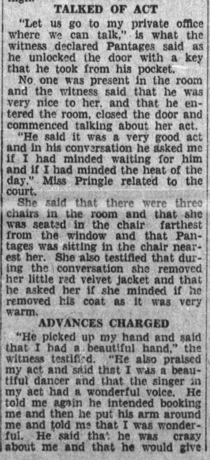 Pringle hearing testimony LA_Times_Aug_15__1929_