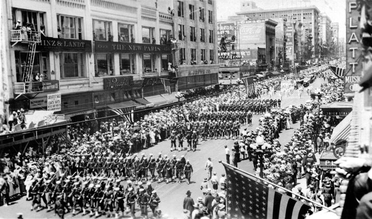 A Snapshot Of Parade Welcoming Home WW I Soldiers Los Angeles 20