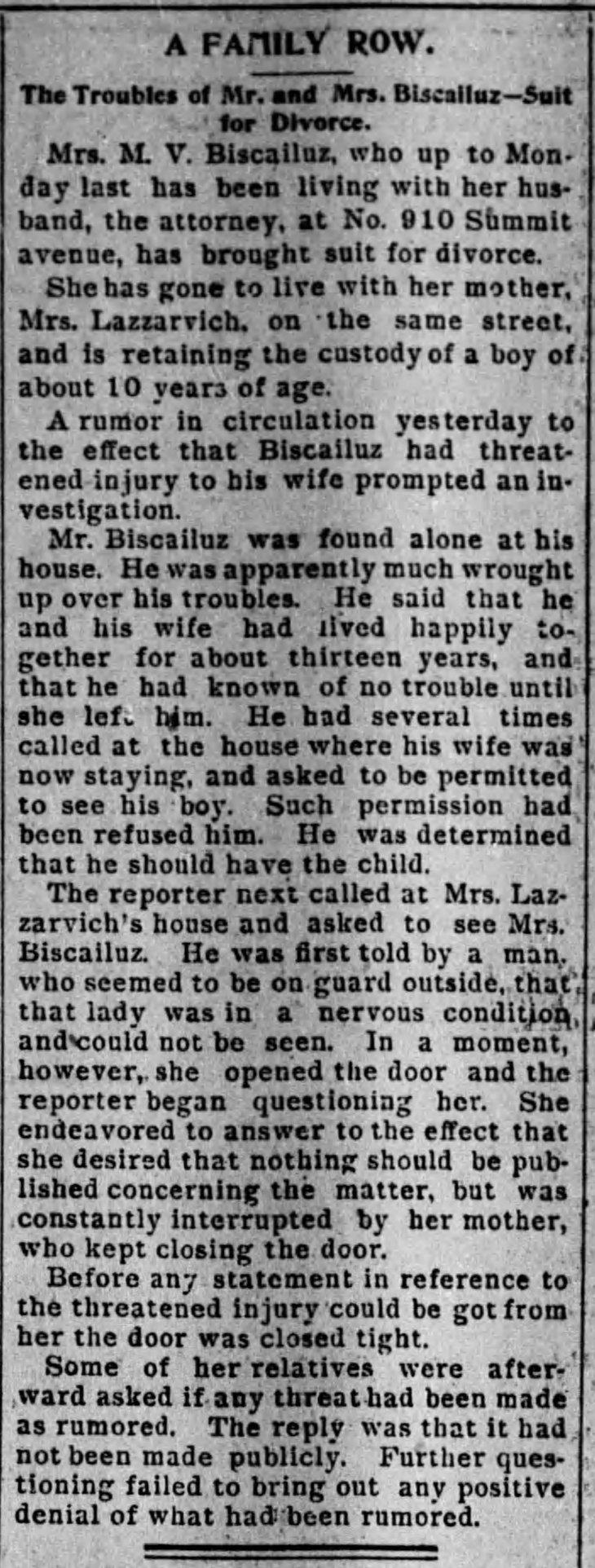 Biscailuz family row Times_Jul_19__1893_