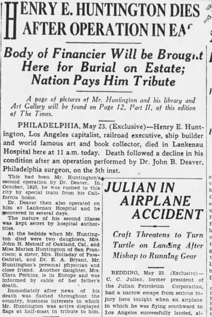 Huntington death Times_May_24__1927_