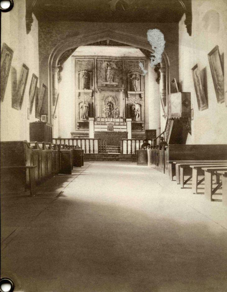 Interior Of San Gabriel Mission Church 2014.507.1.1