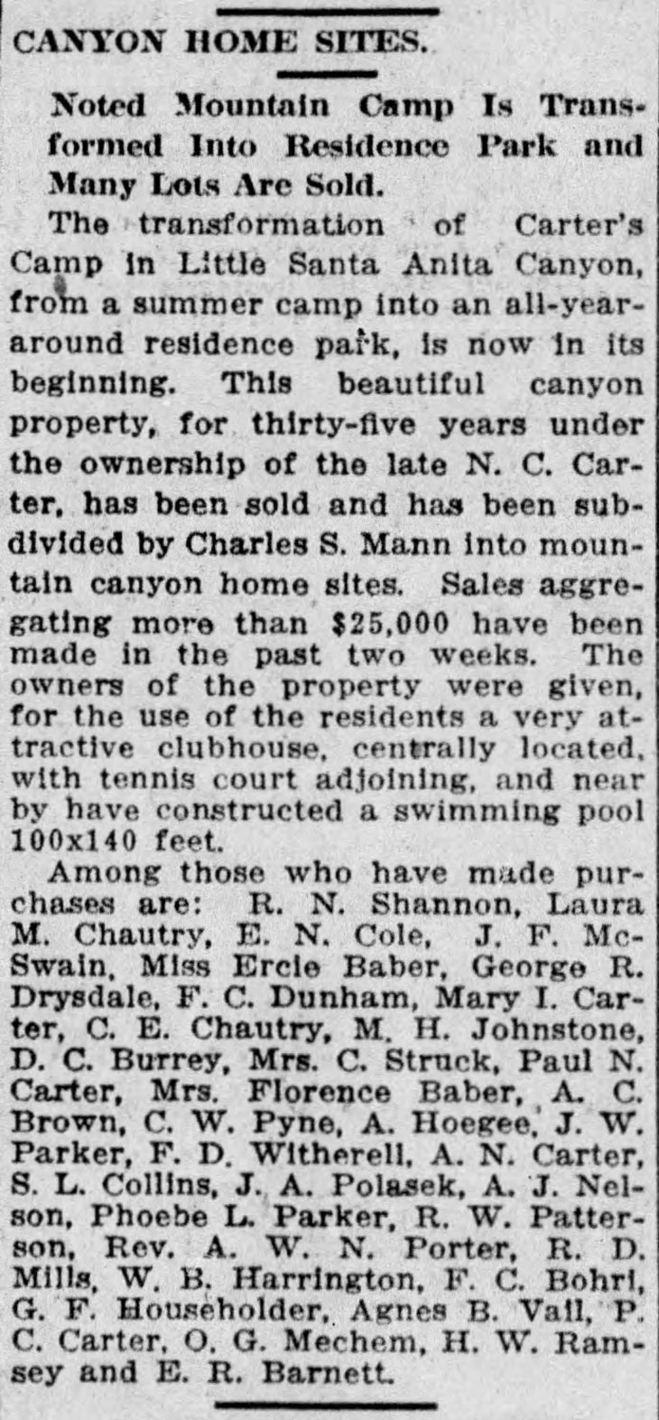 Carter's Camp to Residence Park The_Los_Angeles_Times_Sun__Aug_31__1913_