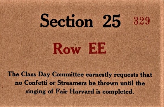 Harvard class day back