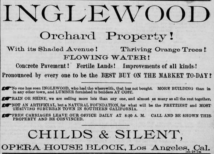 Inglewood Childs & Silent Los_Angeles_Herald_Sat__Jan_28__1888_
