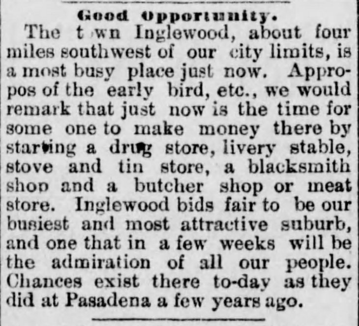 Inglewood Good Oppotunity Los_Angeles_Herald_Wed__Dec_28__1887_