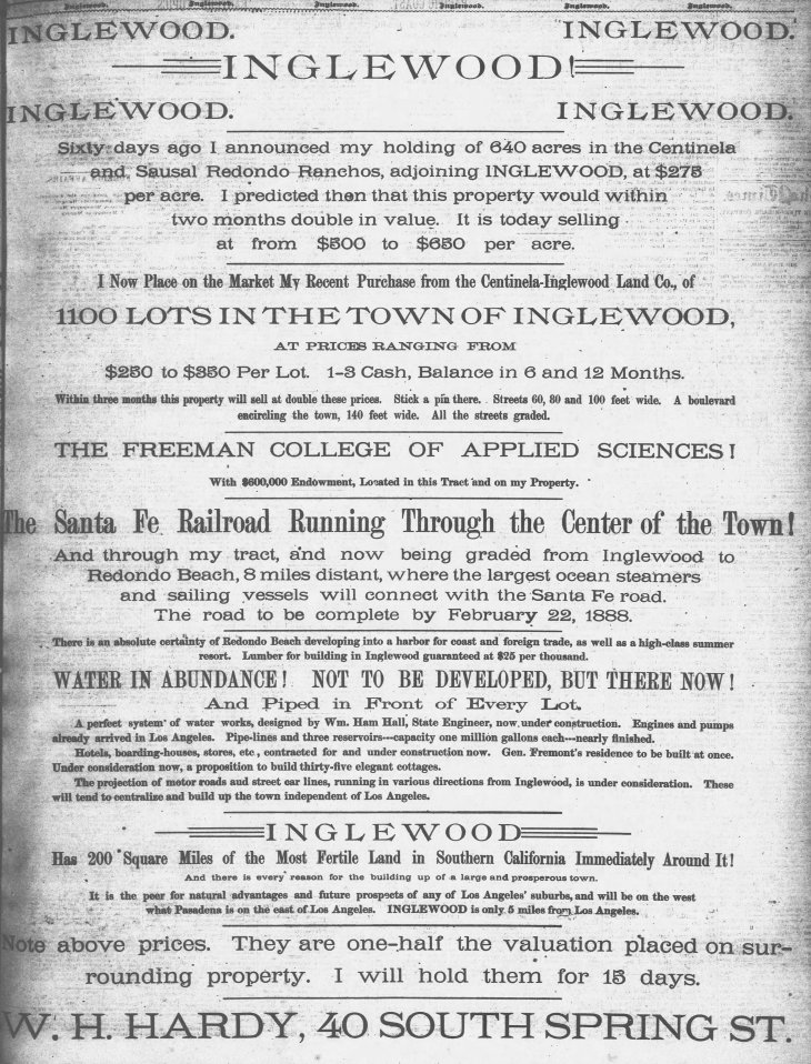 Inglewood Hardy ad The_Los_Angeles_Times_Sat__Jan_7__1888_