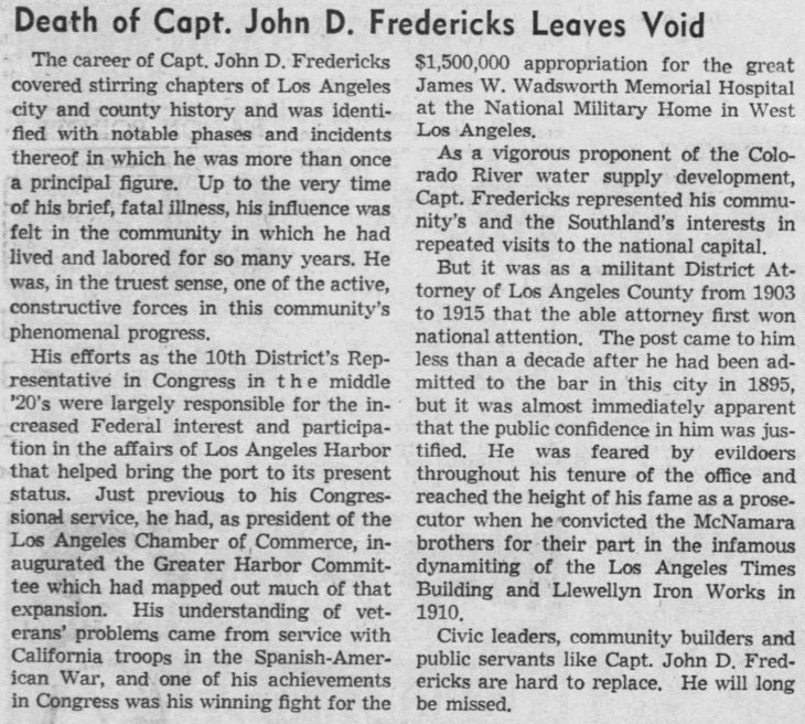 Obit editorial The_Los_Angeles_Times_Wed__Aug_29__1945_
