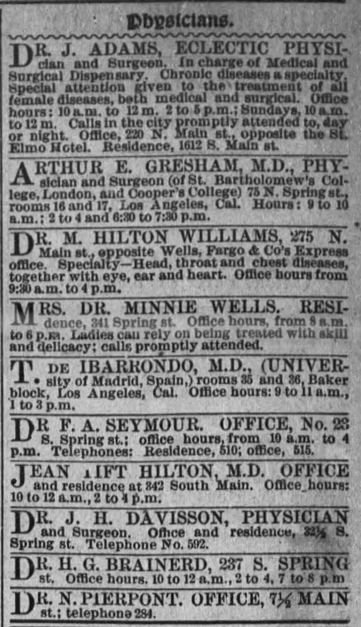 First ad The_Los_Angeles_Times_Sun__Mar_27__1887_