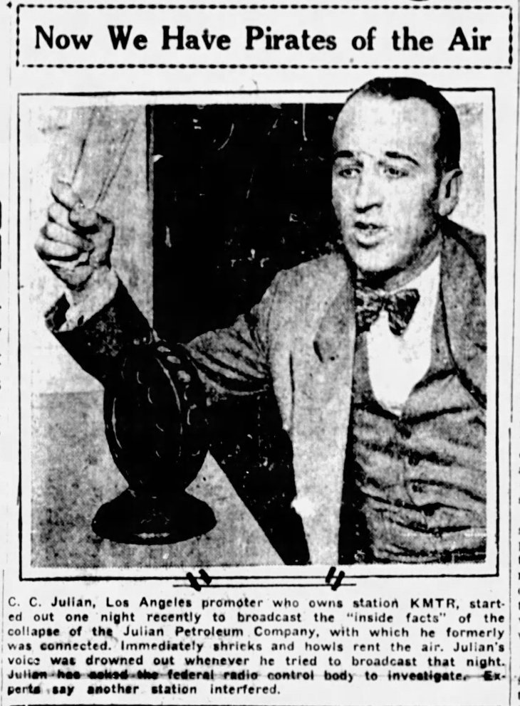 Julian Pirates of the Air The_[Salinas] Californian_Thu__Jul_7__1927_