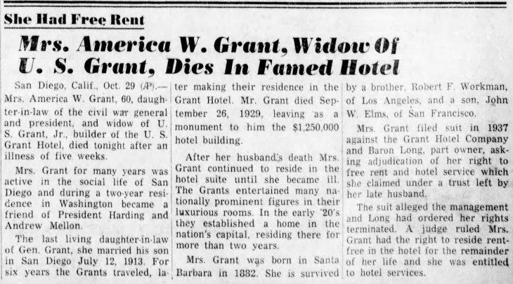 America Grant obit Santa_Cruz_Sentinel_Fri__Oct_30__1942_