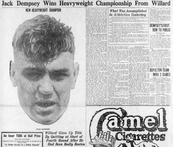 Dempsey Willard Harrisburg PA Evening_News_Sat__Jul_5__1919_