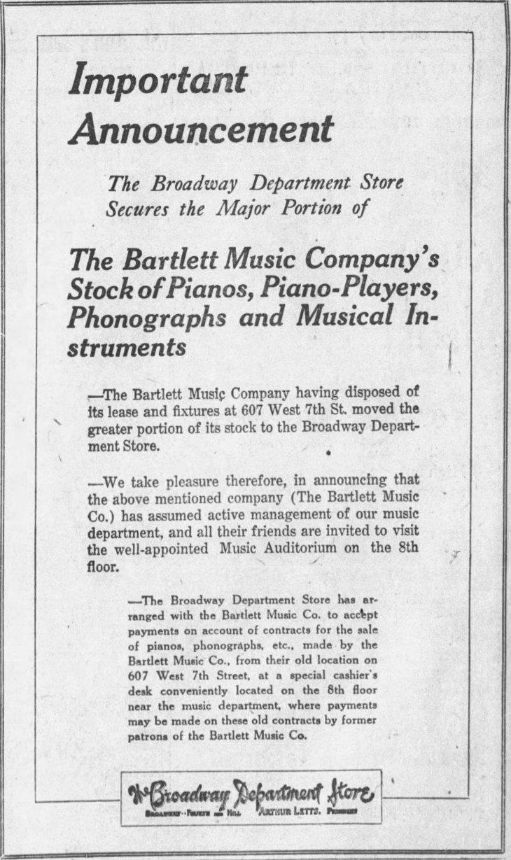 Bartlett Broadway merger The_Los_Angeles_Times_Sun__Jun_25__1922_