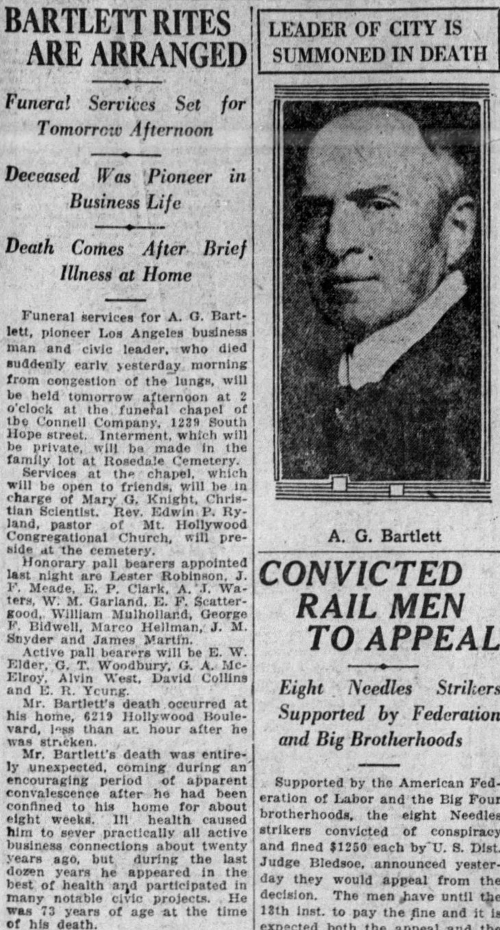 Bartlett obit The_Los_Angeles_Times_Wed__Feb_7__1923_