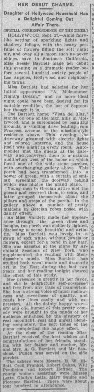 Bessie Bartlett debut Vista del Mar The_Los_Angeles_Times_Fri__Sep_28__1906_
