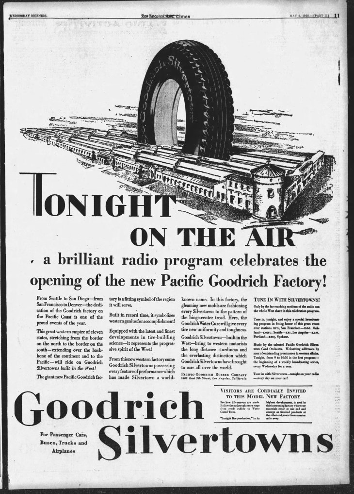Goodrich factory ad The_Los_Angeles_Times_Wed__May_2__1928_