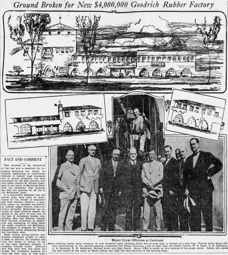Goodrich plant groundbreaking The_Los_Angeles_Times_Sun__Jul_31__1927_