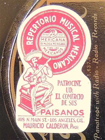 Image 3 Calderon Store Record Label c1930