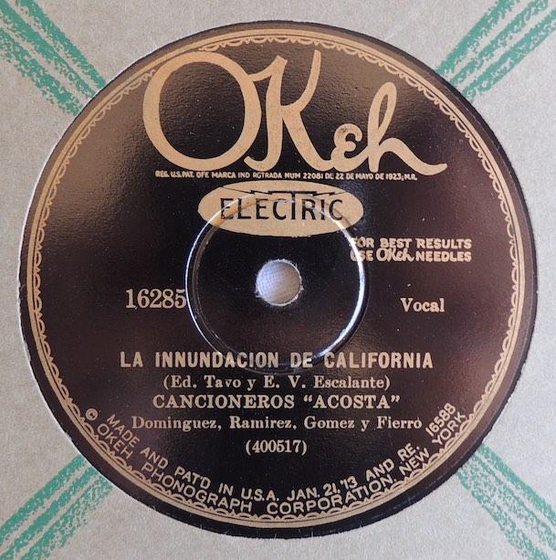 Image 4 Cancioneros Acosta Okeh Label c1928