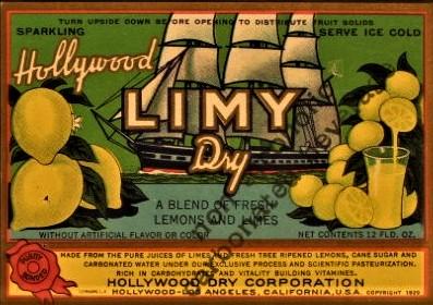 Limy Dry bottle ticket
