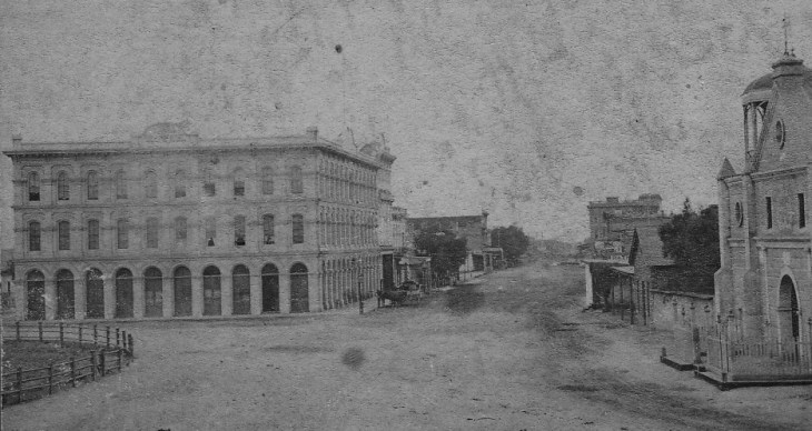 Main Street Detail from Plaza South Payne 1870s