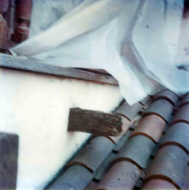 1873La Casa Nueva Courtyard Balcony Far Right Beam Restoration 99.5.33.891