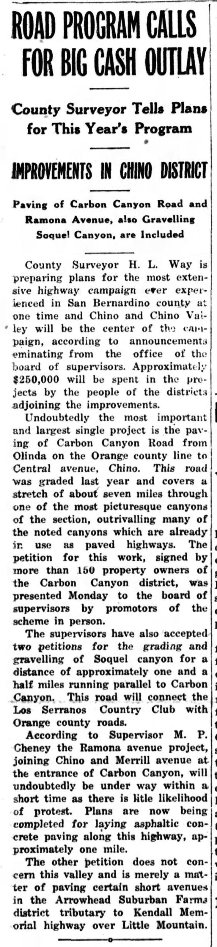 Carbon Soquel Road Outlays Chino_Champion_Fri__Jan_28__1927_