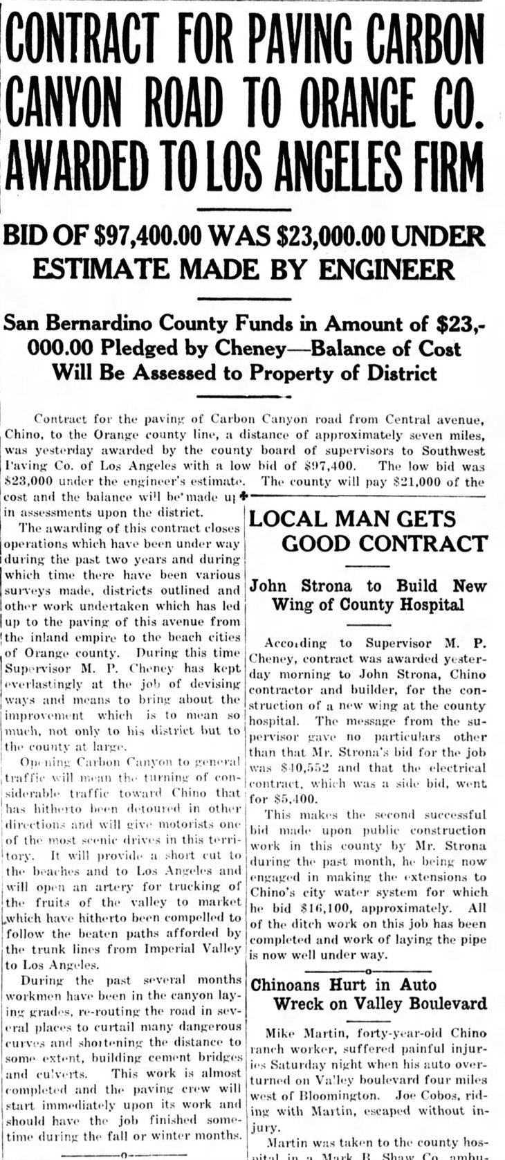 Paving Contract Let Chino_Champion_Tue__Jul_31__1928_