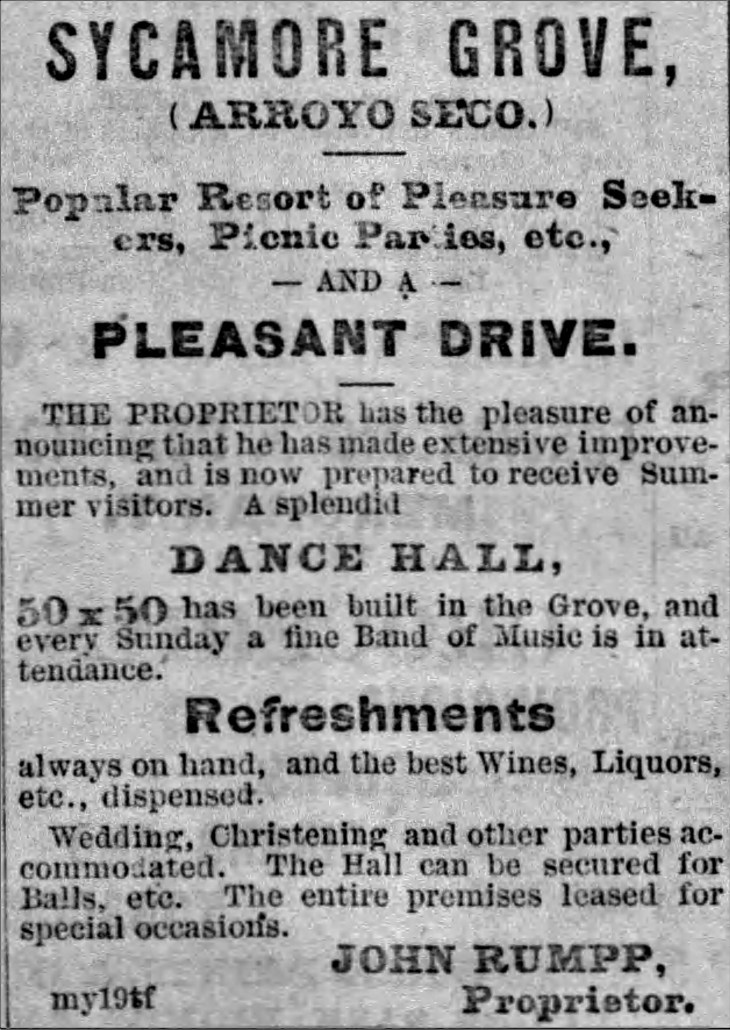 Sycamore Grove ad Evening_Express_Tue__May_19__1874_