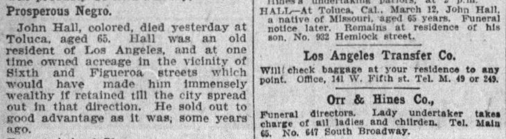 Hall obit The_Los_Angeles_Times_Fri__Mar_13__1903_