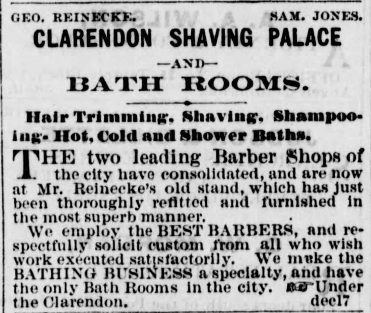 Jones and Reinecke barber shop Los_Angeles_Herald_Sun__Dec_28__1873_