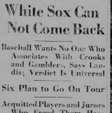 Landis Bans White Sox