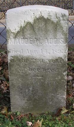 Maude W. Addis grave Jen Snoots Find-a-Grave