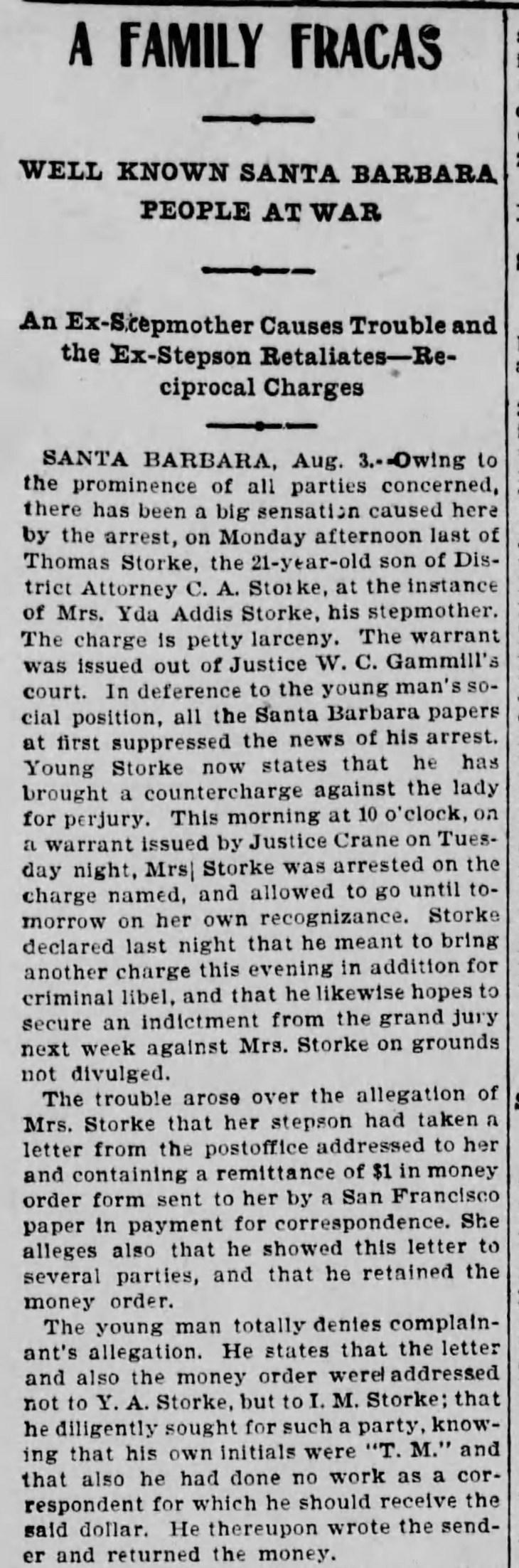 Yda and Tom Family Fracas Los_Angeles_Herald_Thu__Aug_4__1898_