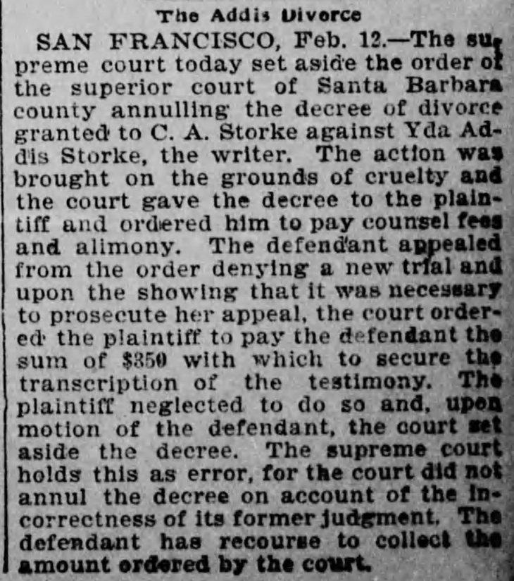 Yda Supreme Court ruling Los_Angeles_Herald_Sat__Feb_13__1897_