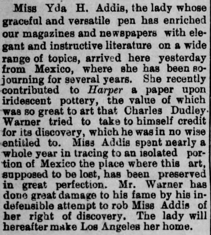 Yda WArner back in LA Los_Angeles_Herald_Tue__Oct_1__1889_