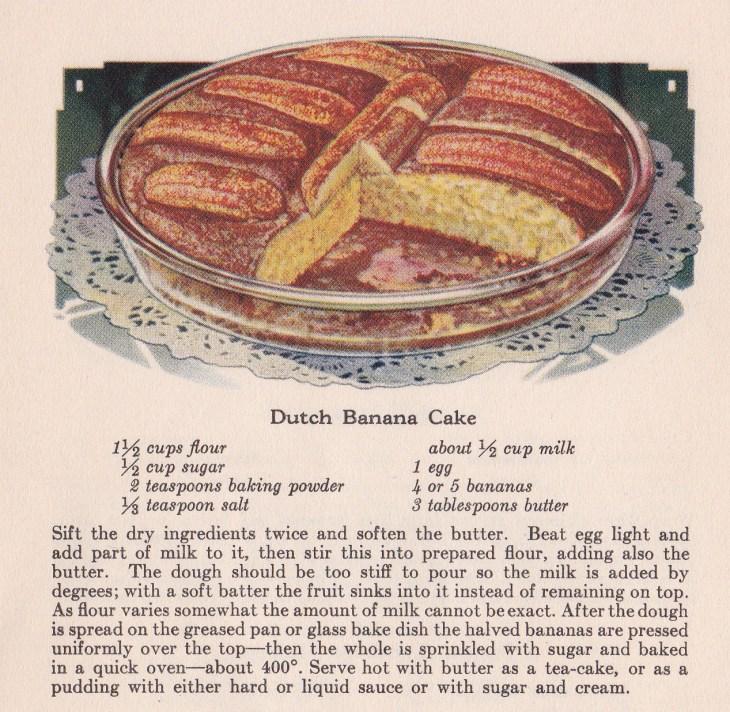 Dutch Banana Cake Recipe crop