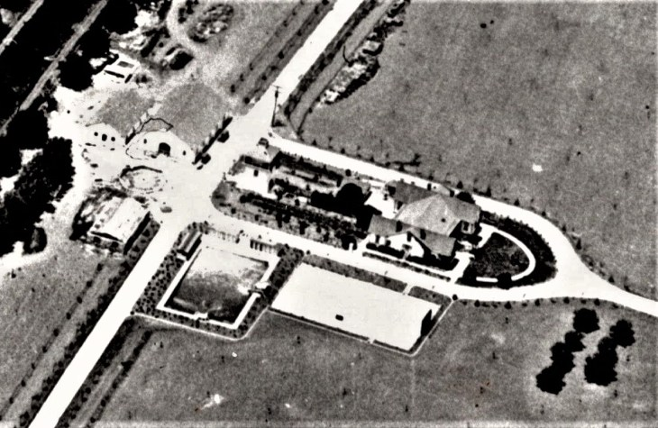 1921 Homestead aerial WH cemetery detail