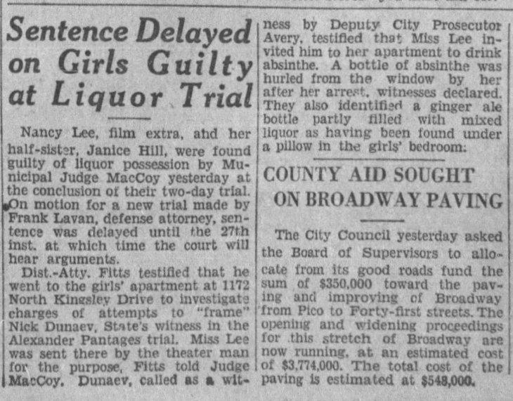 Nancy Lee Janice Hill guilty The_Los_Angeles_Times_Sat__Dec_21__1929_