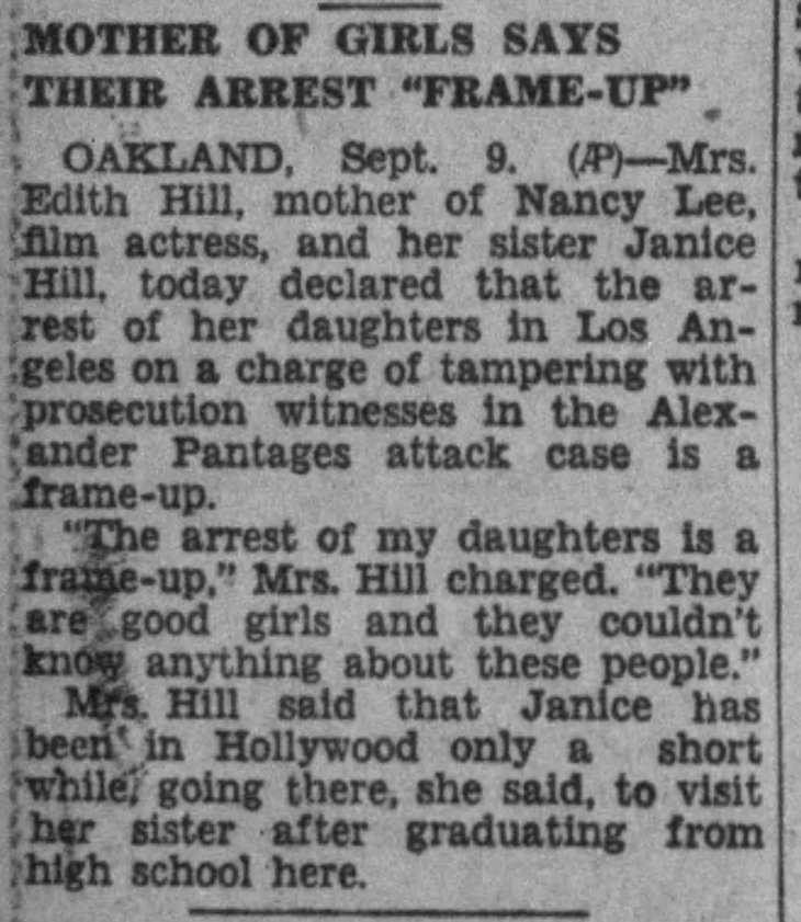 Nancy Lee Janice Hill mother frame up The_Los_Angeles_Times_Tue__Sep_10__1929_