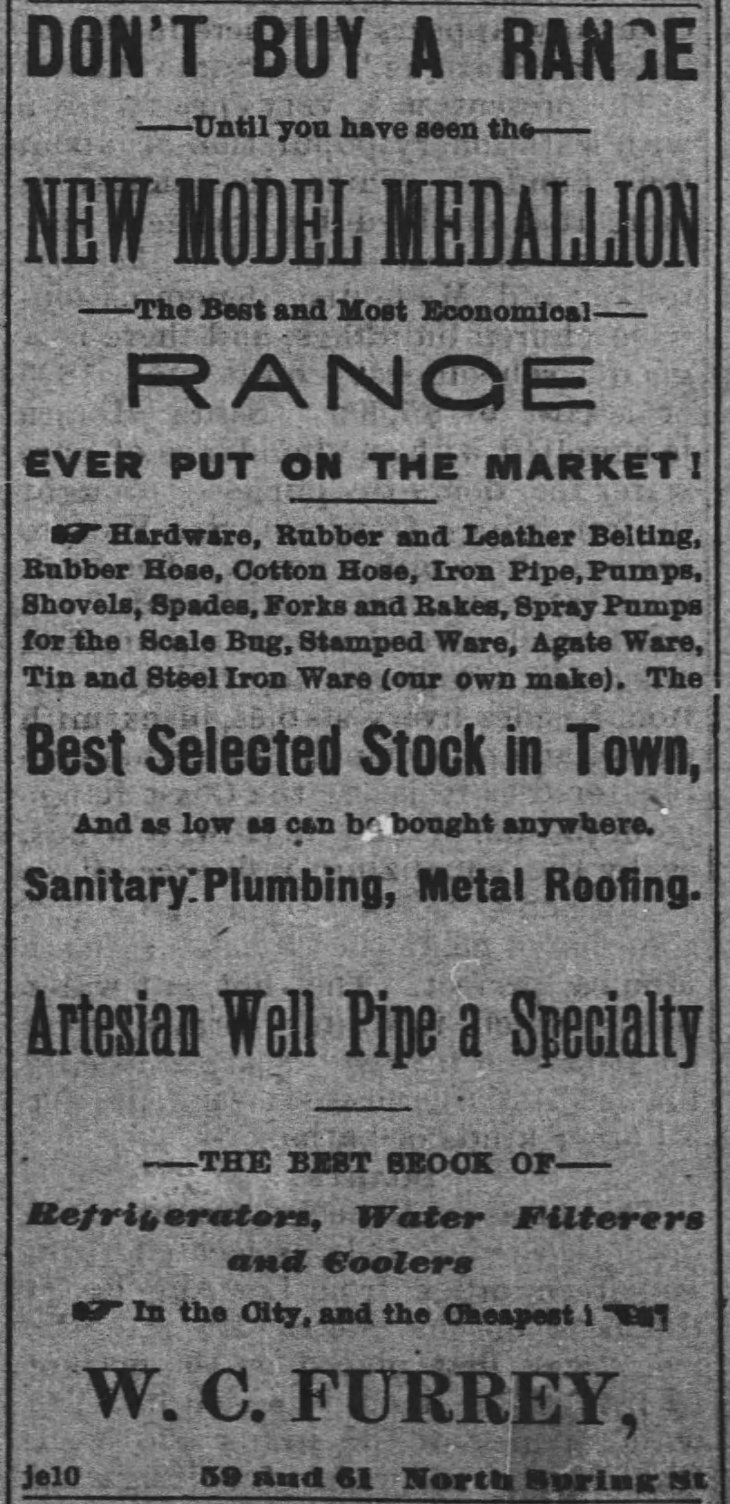 Furrey ad The_Los_Angeles_Times_Thu__Jan_1__1885_