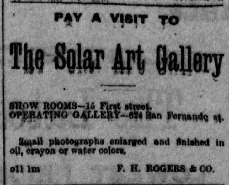 Rogers Solar Art Gallery Los_Angeles_Herald_Sun__Dec_9__1883_