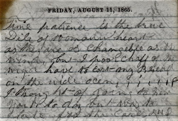 Jenkins Diary August 8-13